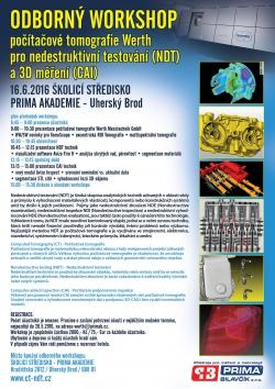Pozvánka na ODBORNÝ WORKSHOP POČÍTAČOVÉ TOMOGRAFIE Werth pro nedestruktivní testování (NDT) a 3D měření (CAI)