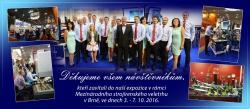 Poděkování návštěvníkům naší expozice na MSV Brno 2016